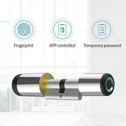 Дверной смарт-замок с Bluetooth, беспроводной электронный цилиндрический замок с Биометрическим отпечатком пальца, с приложением Bluetooth, для умн...