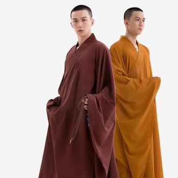 Monk Uniform Coat Wide Sleeve Haiqing Mulan Ginger Casual Yellow Wide Sleeve Large Haiqing Buddhist Monk Costume Men Women