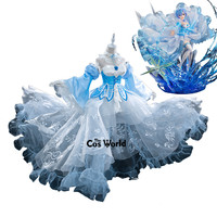Re:Zero Starting Life in Another World Remu Crystal Flower Wedding Dress Outfit Anime Cosplay Costumes