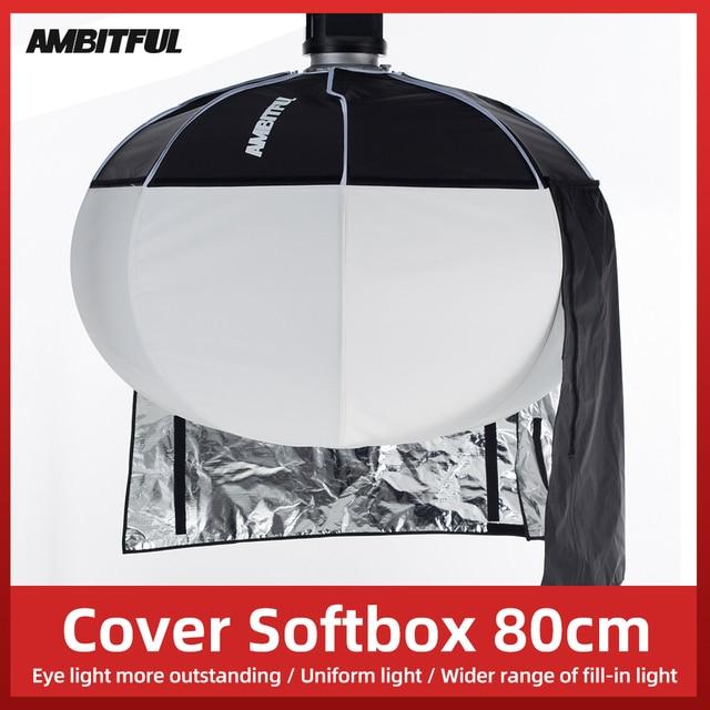 أمبيتفول مصباح سوفت بوكس دائري 80 سنتيمتر 31.5 بوصة ، قابل للطي ، تركيب سريع ، محمول ، لفلاش استوديو Bowens Profoto Elinchrom