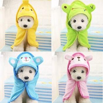 Cute Pet Dog Towel Soft Drying Bath Pet Towel For Dog Cat Cute Cartoon Puppy Super Absorbent Bathrobes Pet Clean Supply