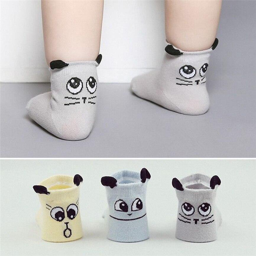 Socks Baby Winter Baby Infant Socks Newborn Cotton Soft Boy Girl Sock Cute Cartoon Toddler Anti-slip Socks