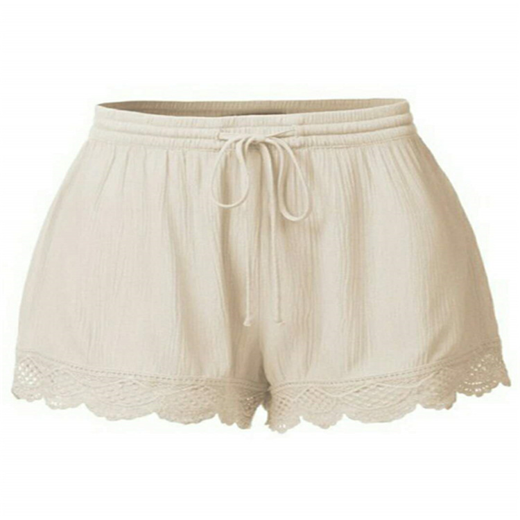 Summer Explosion Models Solid Color Lace Lace Shorts Casual  Women