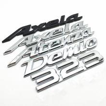 Demio Axela Atenza 323 3D Автомобильный задний бампер, багажник, английская буква, эмблема, значки, наклейки, логотип для автомобильного стайлинга, акс...