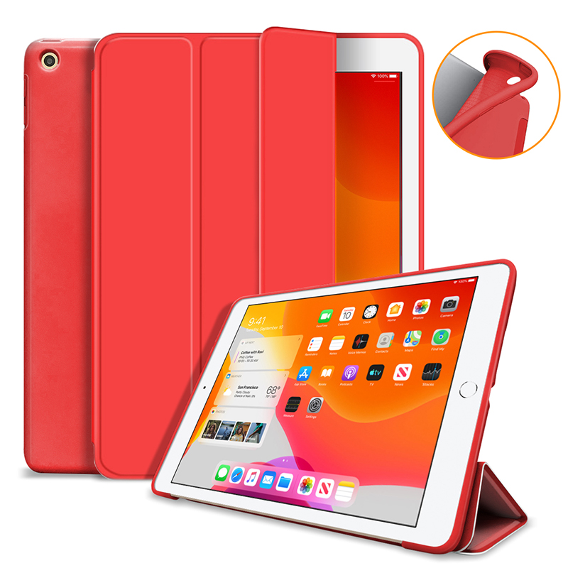 Red Purple Silicone Cover Case For iPad 10 2 Case For iPad 8th 7th Generation Cover For Model