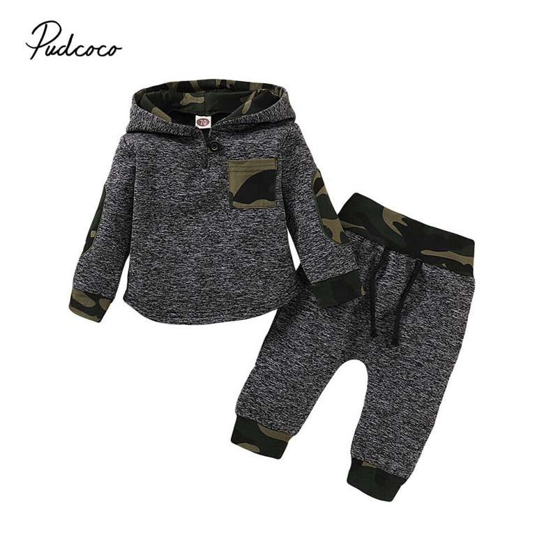 2020 г. Весенне осенняя одежда для малышей камуфляжная толстовка с длинными рукавами для маленьких мальчиков, топы, штаны, леггинсы, комплект одежды, От 3 месяцев до 3 лет Комплекты одежды      АлиЭкспресс