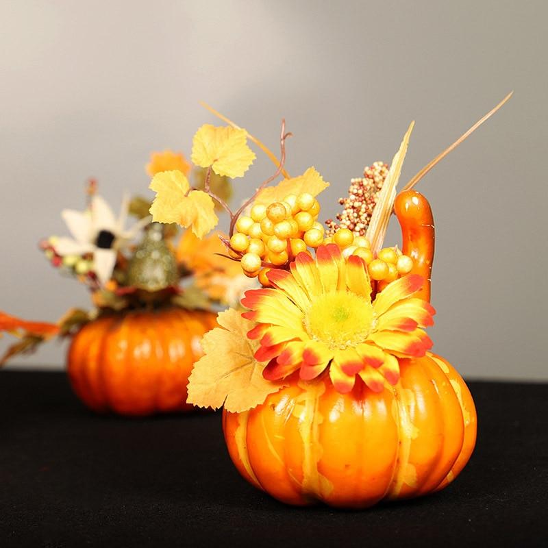 Autumn Decorations Mini Pumpkins Maple Leaves Wedding Decorations Home Décor New