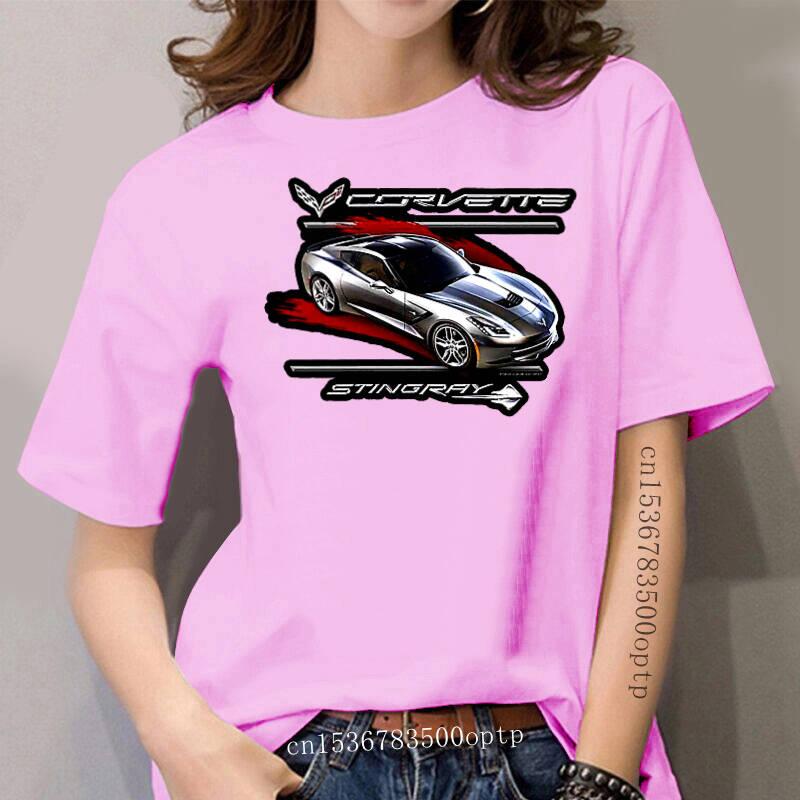 C7 Corvette Black T-Shirt Tee Shirt - Gray Stingray Crossed Flags Logos 2X