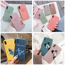 Candy Color Luxury For iphone 6s 6 7 8 plus xs max xr Phone Case Cover Silicon Soft Matte Heart Love Couple Cute Cases Caps(China)