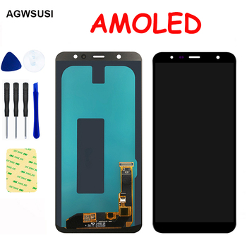 AMOLED LCD For Samsung Galaxy A6 Plus 2018 A605 A605F A605FN LCD Display Screen Module Touch Screen Digitizer Sensor Assembly