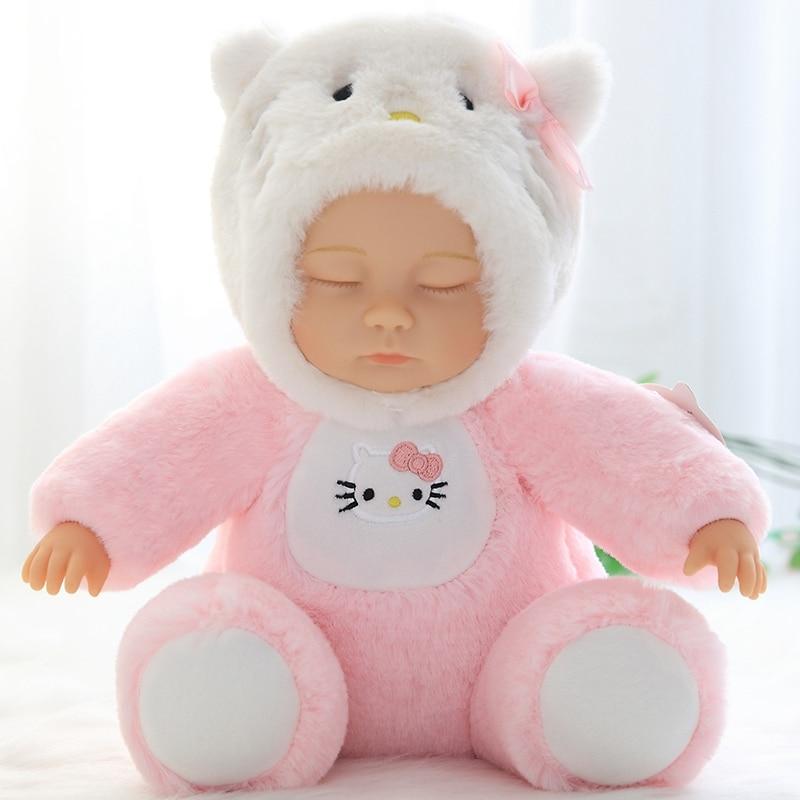 Lifelike reborn boneca bonito brinquedos de pelúcia menina boneca bebê dormir apaziguamento boneca brinquedos de pelúcia crianças menina quarto decoração aniversário presentes de natal