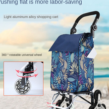 Stair Heavy-Duty Cart with Wheels Removable Grocery-Bag for Climber-In1 360rotating-Handle