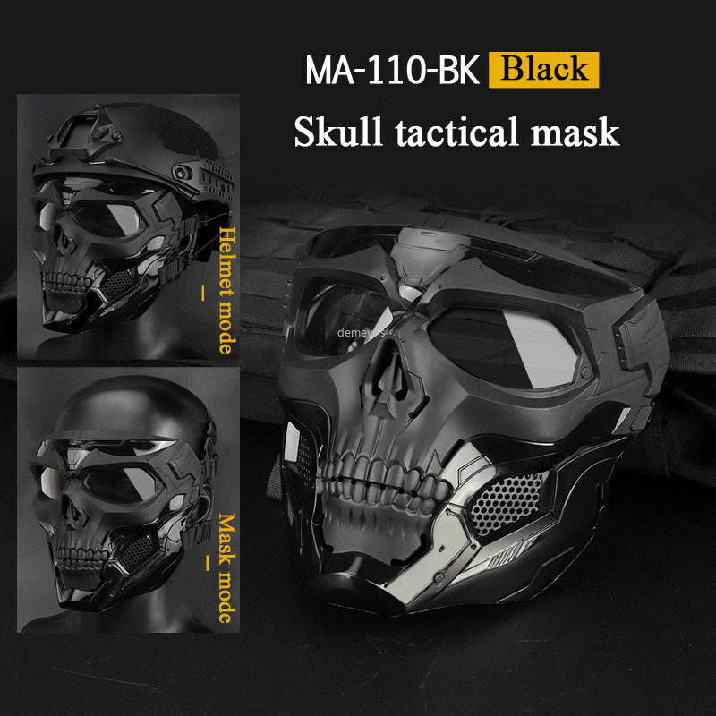 Outdoor Tactical Mask Military Hunting Shooting Paintball Airsoft Skull Mask Cs Wargame Protective Masquerade Combat Army Masks