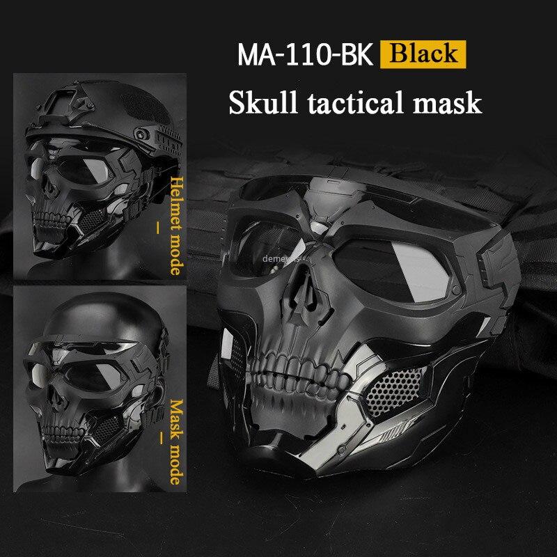 Outdoor Tactical Mask Military Hunting Shooting Paintball Airsoft Skull Mask Cs Wargame Protective Masquerade Combat Army Masks
