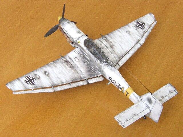 1:33 German Ju-87 D-3 Stuka Dive Bomber DIY 3D Paper Card Model Building Sets Educational Toys Military Model Construction Toys 4