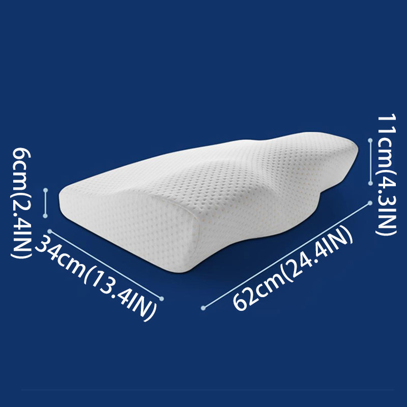 Image 4 - Orthopedic Pillow Solid Color Pillow With Memory Soft And Breathable Orthopedic Pillow For Sleep BE47004-in Body Pillows from Home & Garden