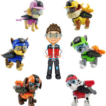 Paw Patrol Action Figures Puppies 7pcs Dolls Toy Set Mission Paw Toys Ryder Rocky Chase Anime Model Toys for Children Gift A16