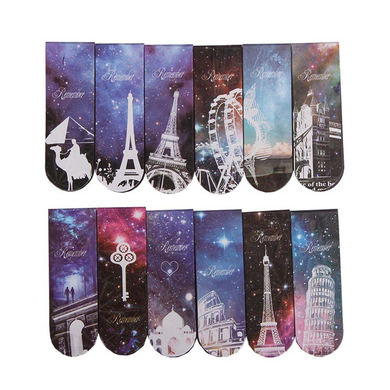 Fashion 6 Pcs/lot Cute Eiffel Tower Paper Bookmarks Creative Kawaii Magnetic Book Marks School Supplies Stationery