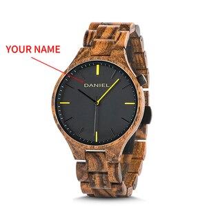 Image 1 - Cuatomize Naam BOBO VOGEL Hout Horloge Mannen Top Luxe Merk Horloges Mannelijke Klok in Houten geschenkdoos huwelijk gift