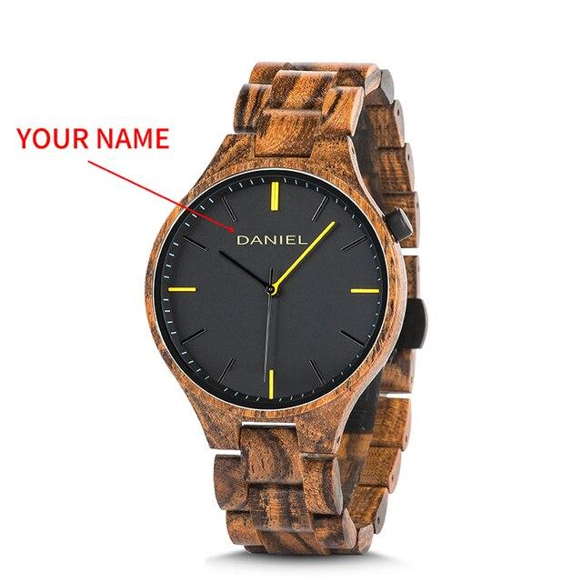 Cuatomize Naam BOBO VOGEL Hout Horloge Mannen Top Luxe Merk Horloges Mannelijke Klok in Houten geschenkdoos huwelijk gift