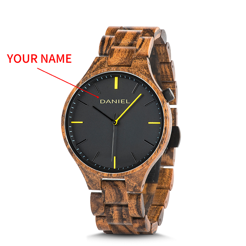 Cuatomize Name BOBO BIRD Wood Watch Men Top Luxury Brand Wristwatches Male Clock in Wooden Gift box Marriage anniversary gift