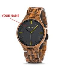 Cuatomize Name BOBO VOGEL Holz Uhr Männer Top Luxus Marke Armbanduhren Männlich Uhr in Holz Geschenk box Ehe jahrestag geschenk