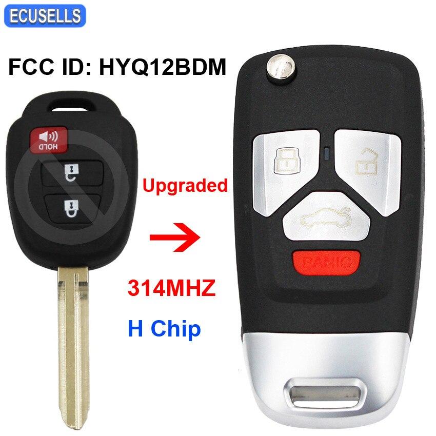 HYQ12BBY Upgrated Remote Key 314MHZ G Chip for Toyota 4-Runner RAV4 Yaris FCC