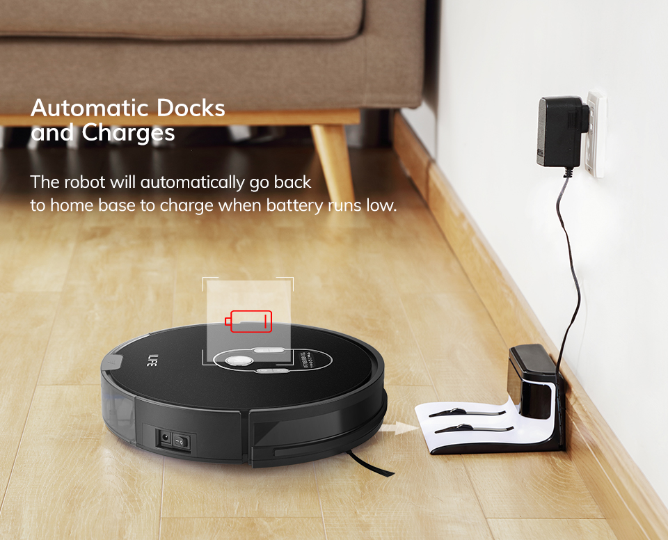 He53232f16cd04d12869afa627ba86a6a5 ILIFE A7 Robot Cleaner Vacuum Smart APP Remote Control for Hard Floor and Thin Carpet Automatic Recharge Slim Body