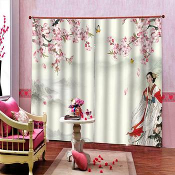 High Quality Shower Curtain AAncient beauty landscape painting curtainsShower Curtain for bedroom blackout curtains