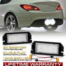 2 шт. ошибок светодиодный номерной знак светильник для Hyundai генезис купе Terracan Veloster I10 I20 XG30 Tiburon пиканто Ioniq