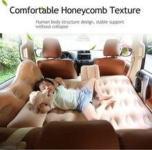 Colchón de viaje inflable para coche fresco, almohadilla de escape trasera para niño, asiento trasero para coche