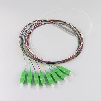 цена на Free shipping PLC Steel Tube 1*8 Optical Splitter SC/APC PLC Splitter 1x8 Fiber Optic PLC Splitter