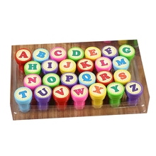 Toys Stamp-Seal Scrapbooking-Plate Letters Self-Inking Children Round 26pcs Ink-Pads