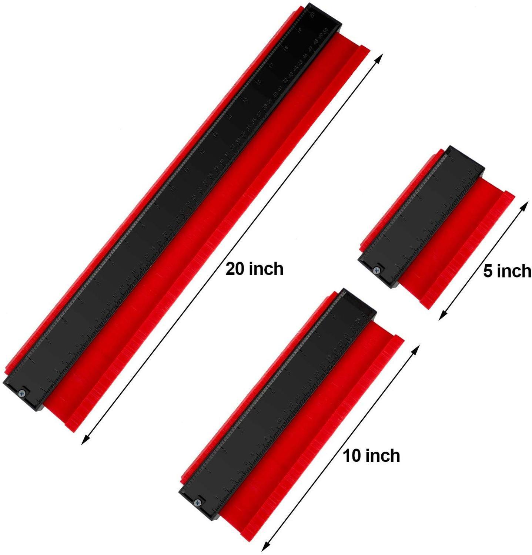 14/25/50cm Gauge Contour  Plastic Profile Copy Contour Gauges Standard Wood Marking Tool Tiling Laminate Tiles General Tool
