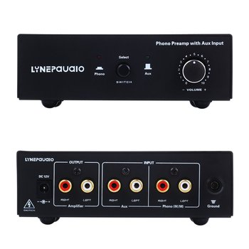 Record Player Vinyl Record Player Mm Phono Amplifier Preamp Phono Line Switching Input Volume Controller