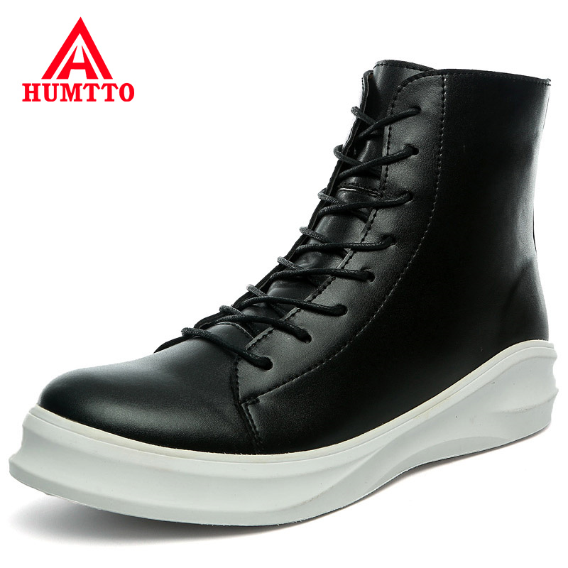 Promo Fashion Motorcycle Boots Men Autumn Winter Warm Brand Work Ankle Boots Mens Shoes Lace Up Male Snow Boots