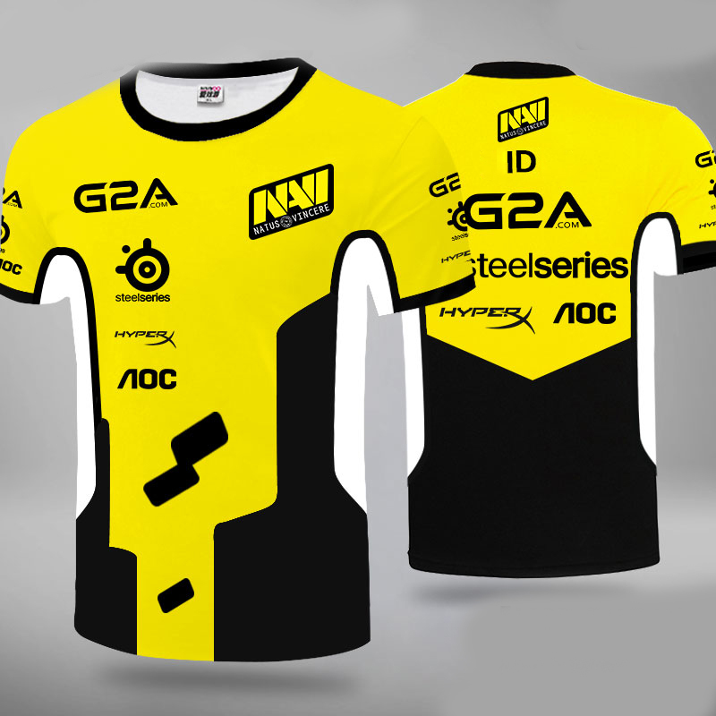 Ukraine Natus Vincere NAVI Player Jersey Uniform Tshirt Fans T-shirt Men Women T Shirts Customsize Tee Shirt CSGO DotA2 LOL