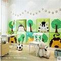 Quadrado 3d estéreo dos desenhos animados adesivo de parede do quarto das crianças à prova de falhas parede macia cabeceira tatami quarto decoração quente
