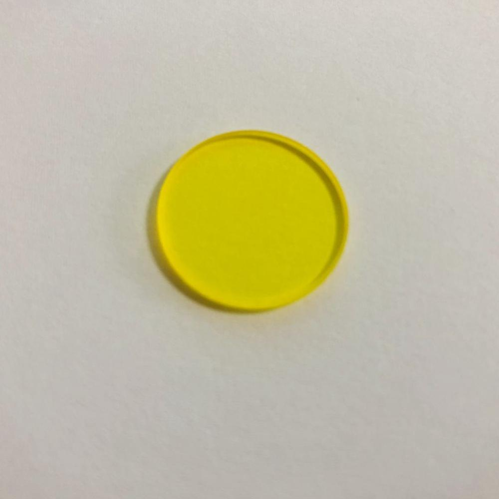 GG495 <font><b>490nm</b></font> round shape yellow color diameter 50mm optical glass filter image