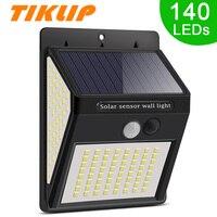 Tiklip-Lámpara alimentada por luz Solar para exteriores, luz LED Solar, impermeable, 3 modos, con Sensor de movimiento PIR, para decoración de pared de calle y jardín