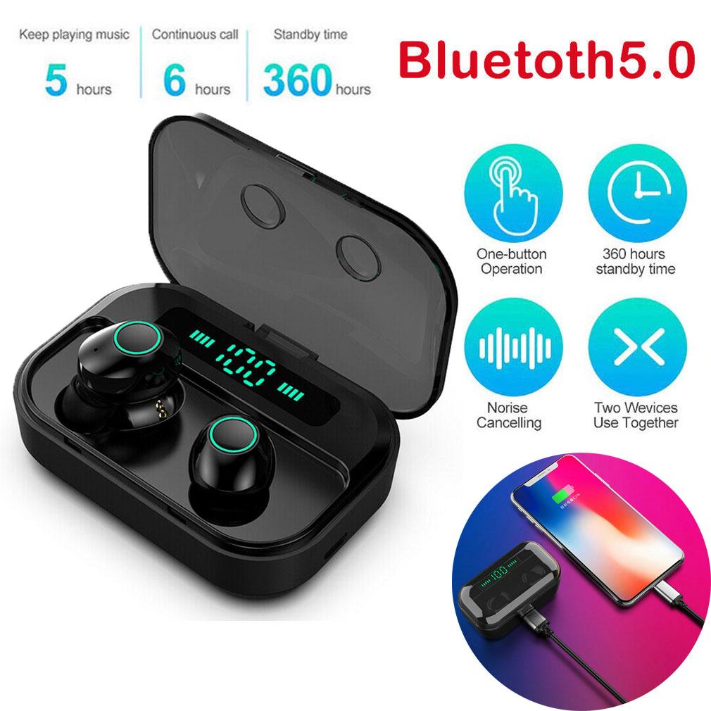M7 Led Power Digital Display Tws Bluetooth 5 0 Wireless Earphones Stereo Headphones Sport Headset Earbuds Bluetooth Earphone Bluetooth Earphones Headphones Aliexpress