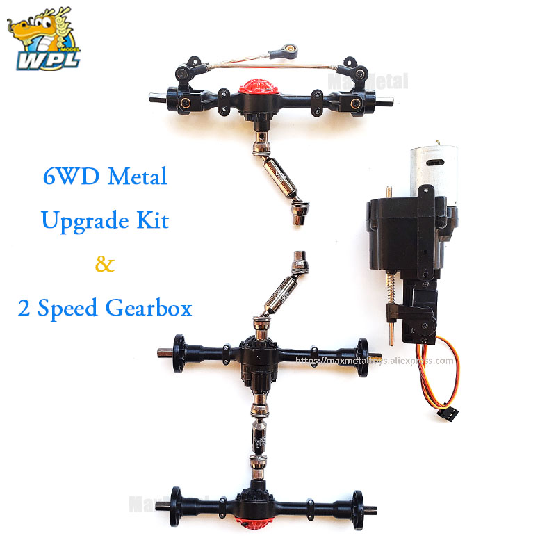 WPL Upgrade Full Metal Spare Part Original OP Fitting Accessories Gearbox For B14 B16 B24 C14 C24 C44 B36 WPL Official