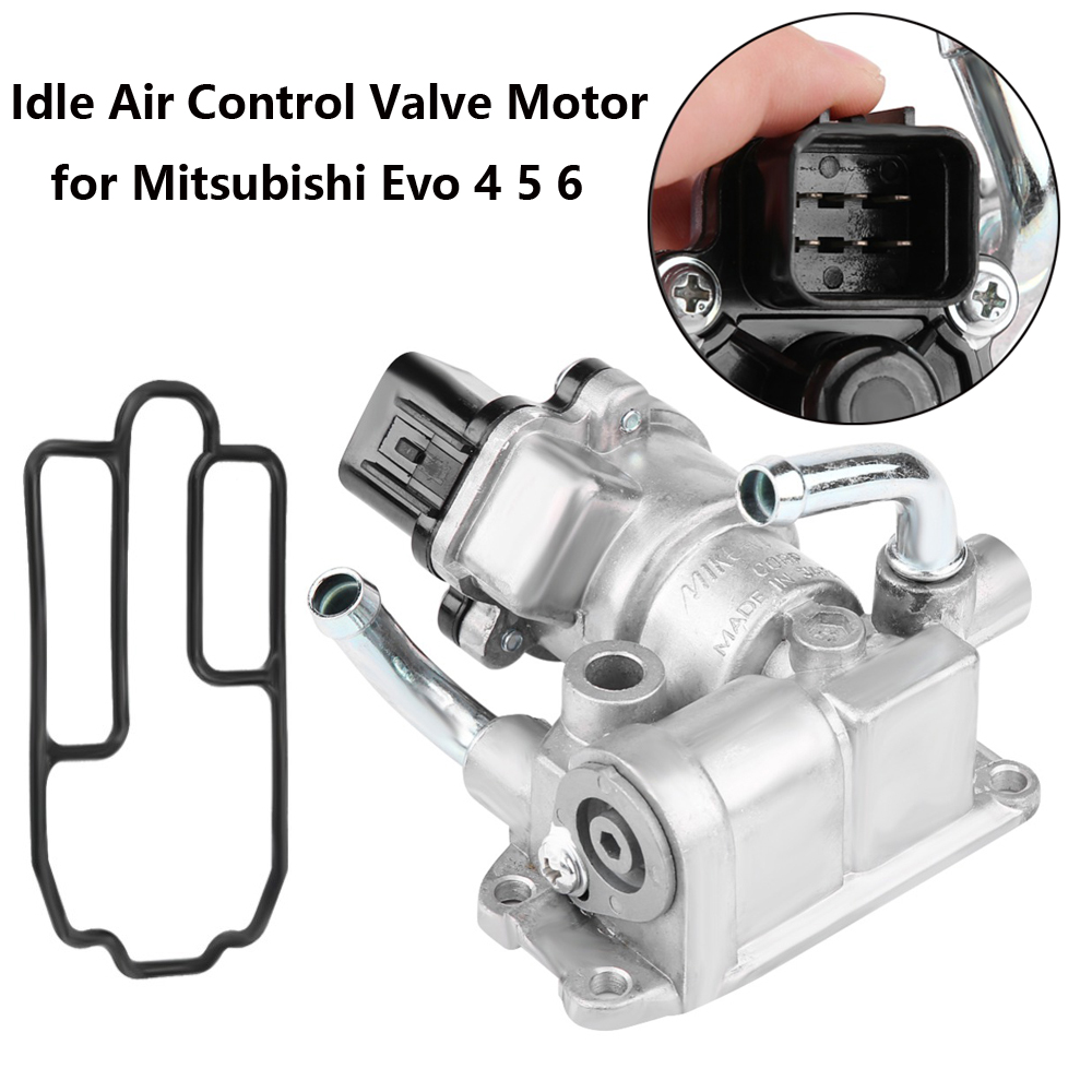 Auto Parts MD614921 Idle Motor Air Control Valve + Gasket Set For Mitsubishi Evo 4 5 6 Metal