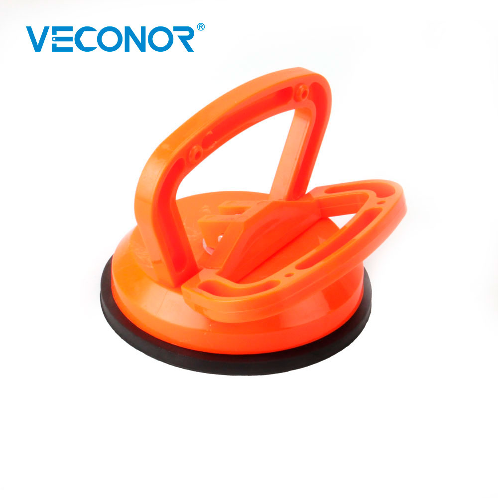 4.5 Inch Glass Suction Cup Vacuum Window Lifter Rubber Plate Bearing Pullers For Moving Glass Tiles Window Mirror Granite