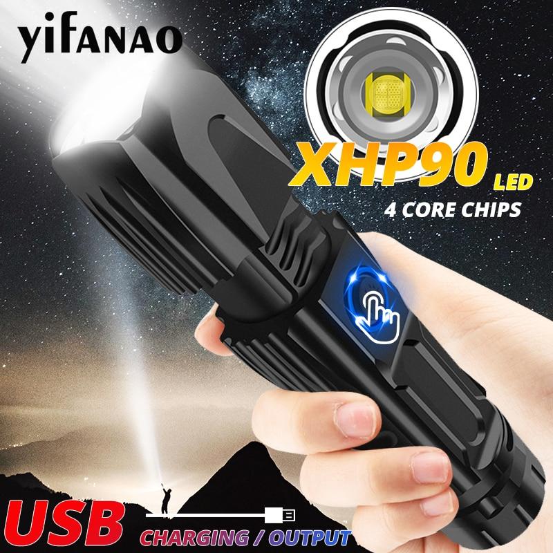 744.72руб. 50% СКИДКА|Сверхмощный XHP90 светодиодный светильник вспышка Xlamp XHP70.2 Тактический светильник вспышка XHP50 USB фонарь с зумом для охоты 26650 безопасный молоток|Фонарики и осветительные приборы| |  - AliExpress