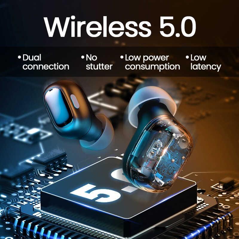 Baseus WM01 TWS real auricular inalámbrico Bluetooth 5,0 auriculares HD Touch Control de brotes de oído para iOS/Android auriculares