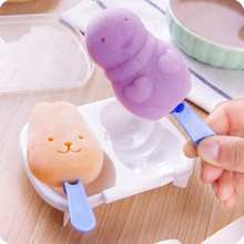 Ice-Cream-Mold Popsicle 2-Cases Cute For Kitchen DIY with Cover Snowman Handmade Bunny