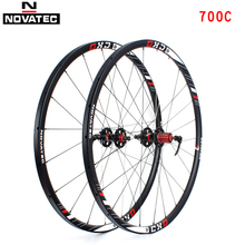 Novatec szosowe XD części rowerowe rura ze stopu aluminium koła opony 700C hamulec tarczowy 4 łożyska 7-11speed QR koło rowerowe zestaw