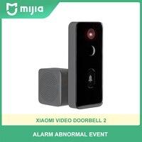 Xiaomi-videoportero inteligente Mijia 2, Wifi, IA, detección humana, almacenamiento en la nube de 3 días, cambio de voz, visión nocturna, 2 vías