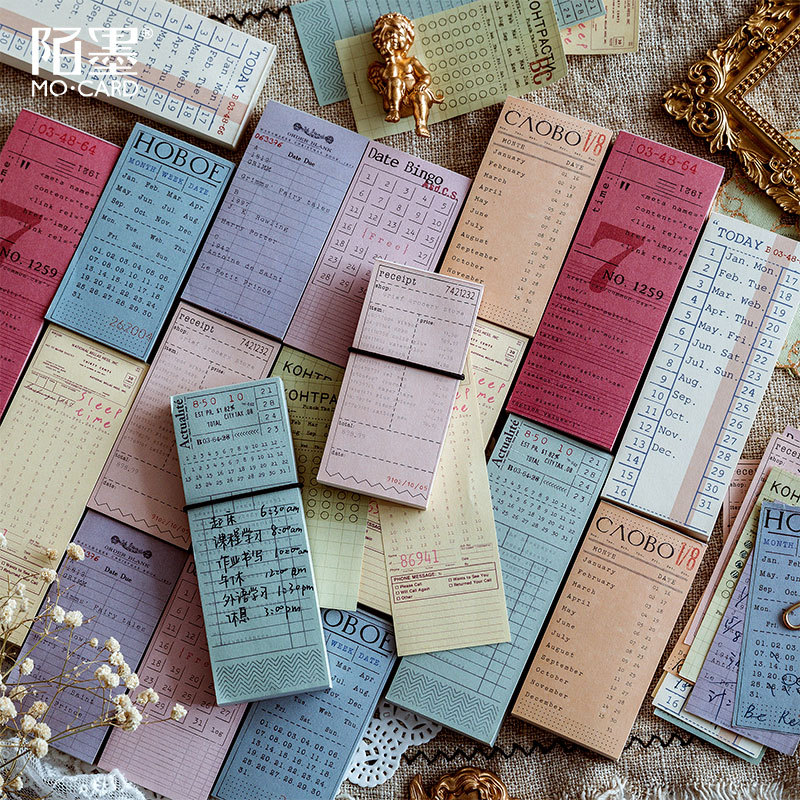 Memo Pads Sticky Notes Antique Ticket Paper Notepad Diary Scrapbooking Stickers Office School Stationery Notepad